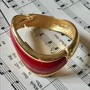NAPIER Red Gold Enameled Bracelet